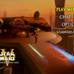 Star Wars: The Empire Strikes Back - Bespin Main Menu Screenshot