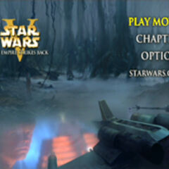 Star Wars: The Empire Strikes Back - Dagobah Main Menu Screenshot