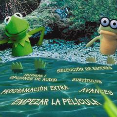 A screenshot of an unused spanish main menu.