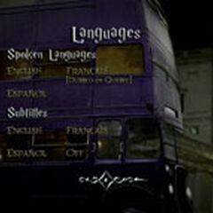 Harry Potter and Prisoner of Azkaban - Languages