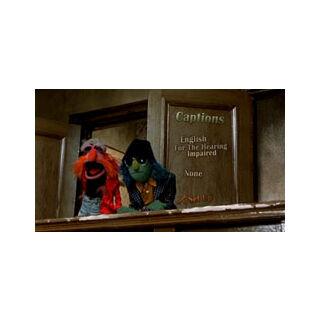 The Great Muppet Caper Captions Menu