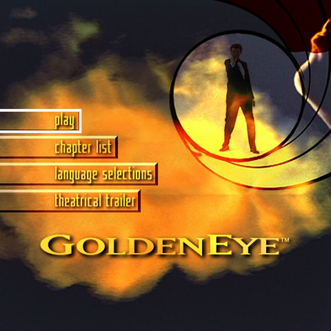 The main menu screen