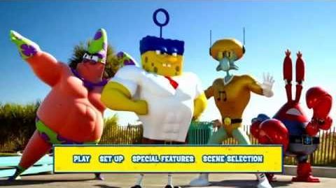 Spongebob Out of the Water DVD menus (Full-version)