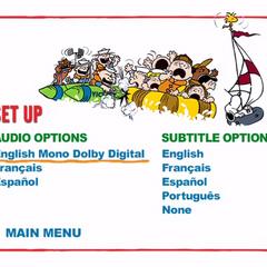 Race For Your Life, Charlie Brown Setup Menu