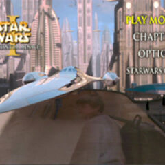 Star Wars: The Phantom Menace - Coruscant Main Menu Screenshot