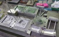 Disassembled Steel Molds