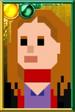 Amy Pond Pixelated Scarf Portrait