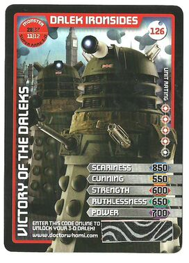 Dalek ironsides-3d super rare