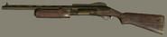 Golden Hunting Shotgun