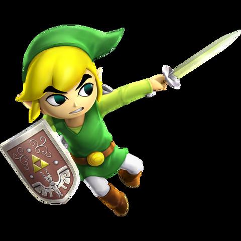 File:Toon Link Sword - HW.png