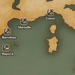 West Mediterranean Sea - Port Map 1 (UW5)