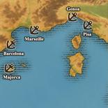 West Mediterranean True Sea - Port Map (UW5)