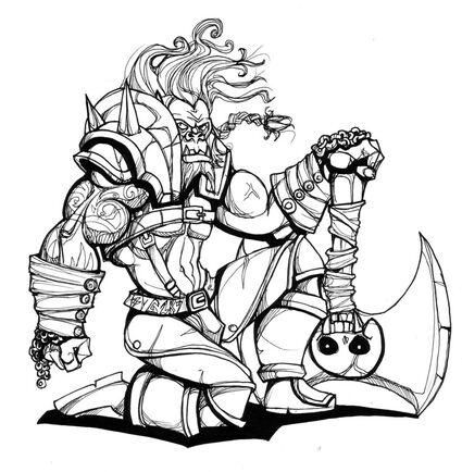 Golrath the orc by Drunkfu