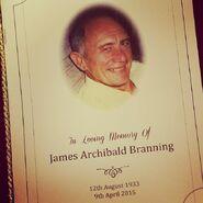 Jim Branning Funeral Booklet (2015)