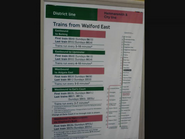 Walford East Tube Station Times