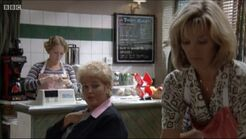 Laura, Pat and Kathy in Cafe