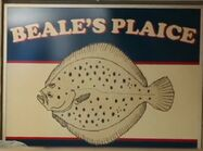 Beale's Plaice Sign