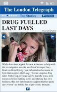 The London Telegraph - 15th August 2014