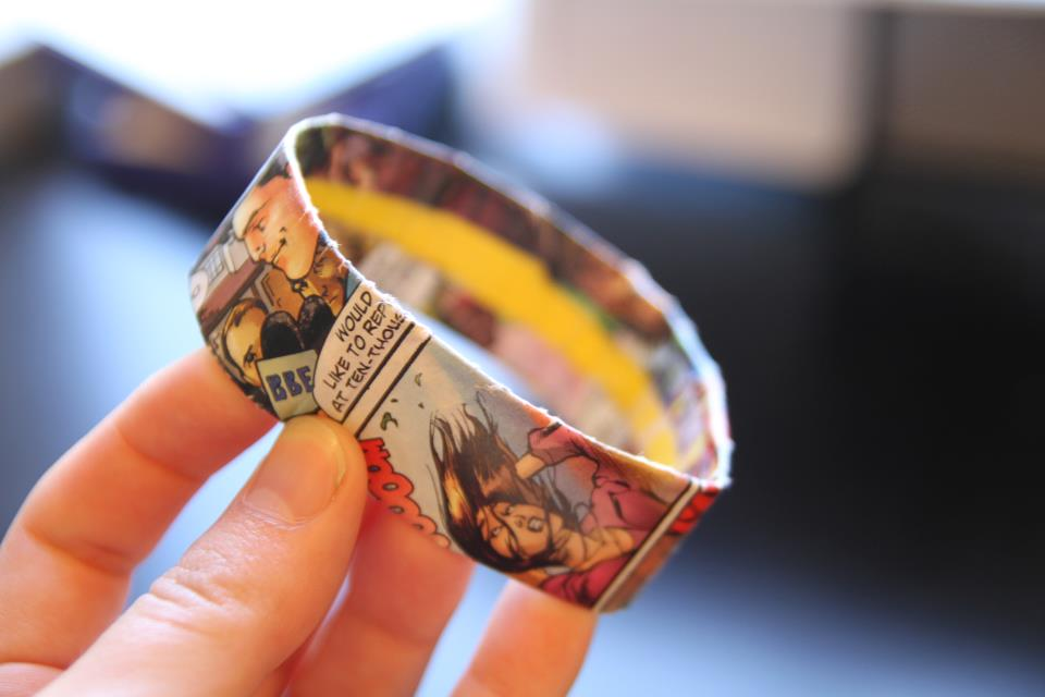 Comic Book Cuff Bracelet Easy Crafts Wiki Fandom
