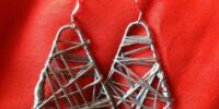 Paperclip and String earrings