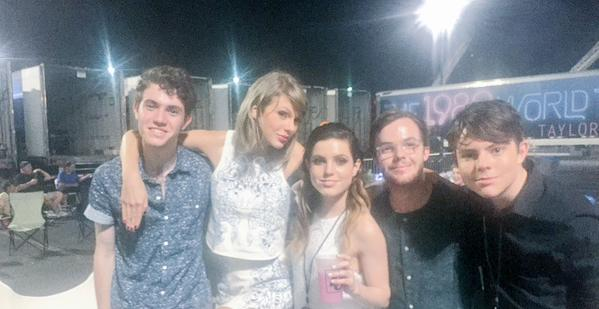 File:Echosmith posing with Taylor Swift.jpg