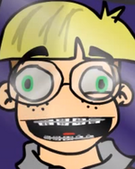 Nerd with braces
