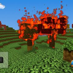 Fire will kill creatures in a matter of 10 seconds unless the creatures run into water.