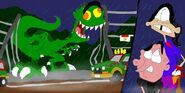 Jurassic ED EDosaurus Rex Scene