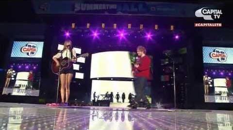 Taylor Swift & Ed Sheeran - Everything Has Changed @ CapitalFM Summertime Ball 2013