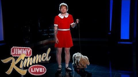 Ed Sheeran is Annie