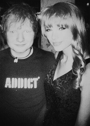 File:Ed Sheeran with Taylor Swift in greyscale.jpg
