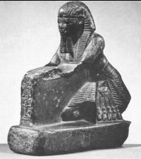 Amenhotep III statue, Gallatin Collection