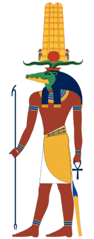 File:Sobek, God of Nile products and Fertility, Patron of the Army and Military.png