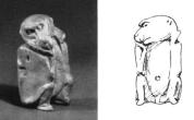 Bone Statue of Monkey, Ptolemaic Period, Gallatin Collection