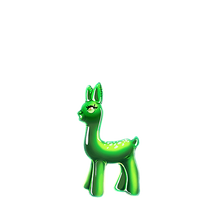 0148 Green Deer