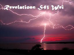 Revelations S43 Wei