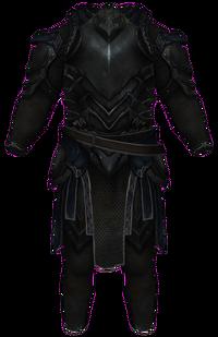 La Cota de Ébano (como se ve en Skyrim)