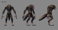 Werewolf in-game model