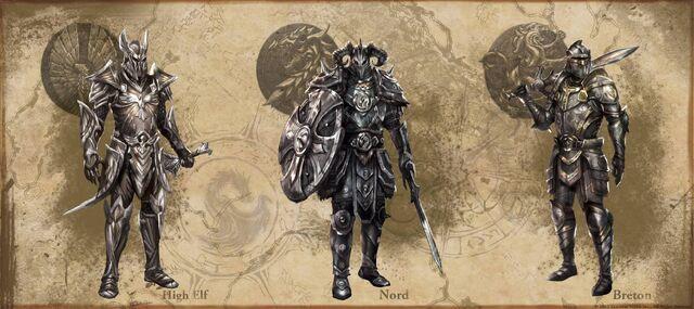 File:High Elven, Nordic, and Breton heavy armor.jpg