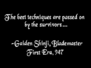 Gaiden Shinji Quote