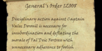 General's Order 12008