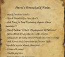 Aera's Household Notes