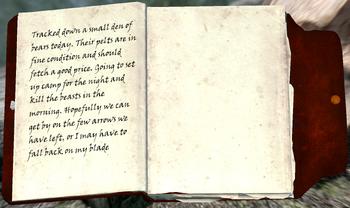 Hunter's Journal from Bear Hunter's Camp