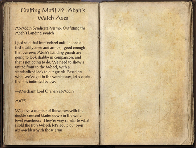 File:Crafting Motifs 32, Abah's Watch Axes.png