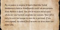 Vicereeve Pelidil's Orders