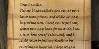 Sven's Fake Letter from Faendal
