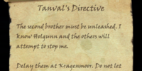 Tanval's Directive