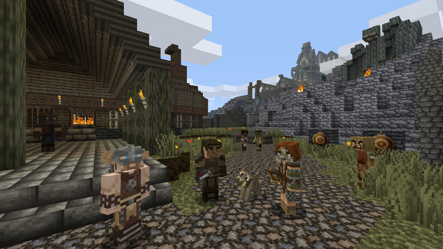 File:Minecraft Skyrim Characters.png