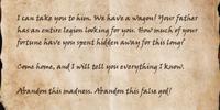 Letter to Stelvene Lothaire