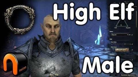 Elder Scrolls Online -- High Elf Male - Character Creation